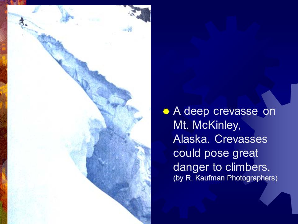 A deep crevasse on Mt. McKinley, Alaska