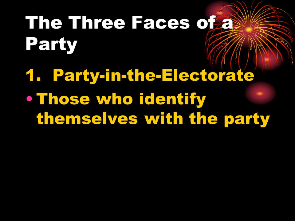 The Three Faces of a Party