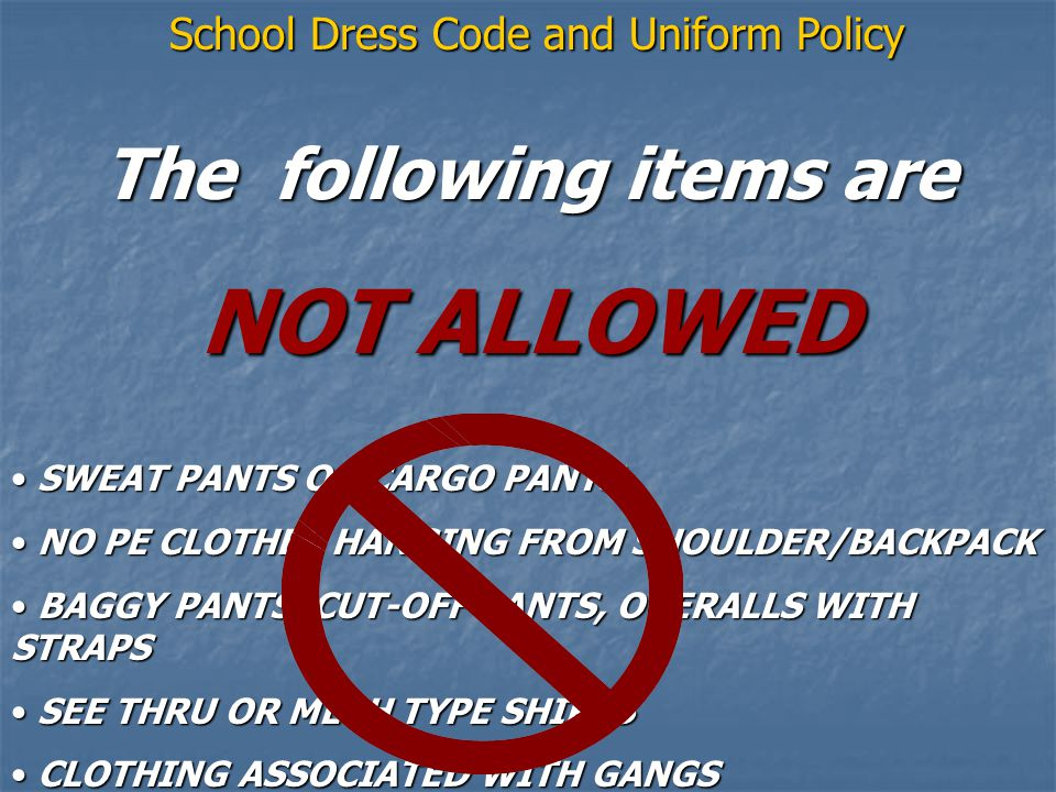 The following items are