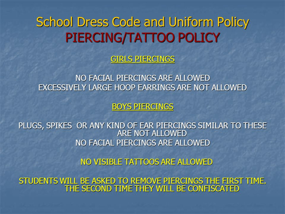 School Dress Code and Uniform Policy