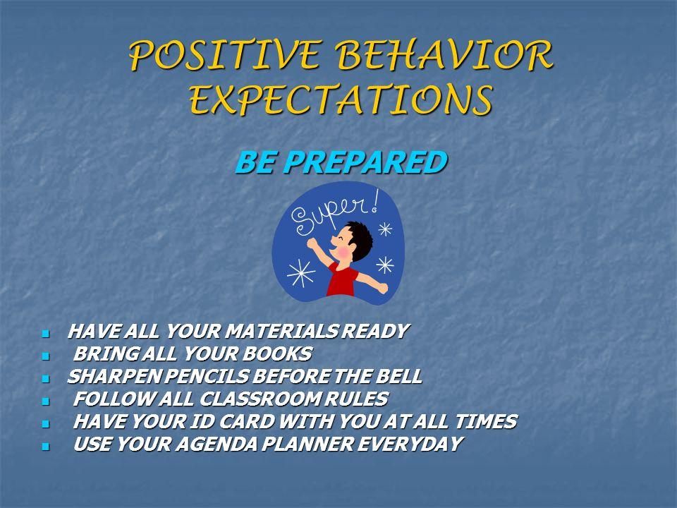 POSITIVE BEHAVIOR EXPECTATIONS