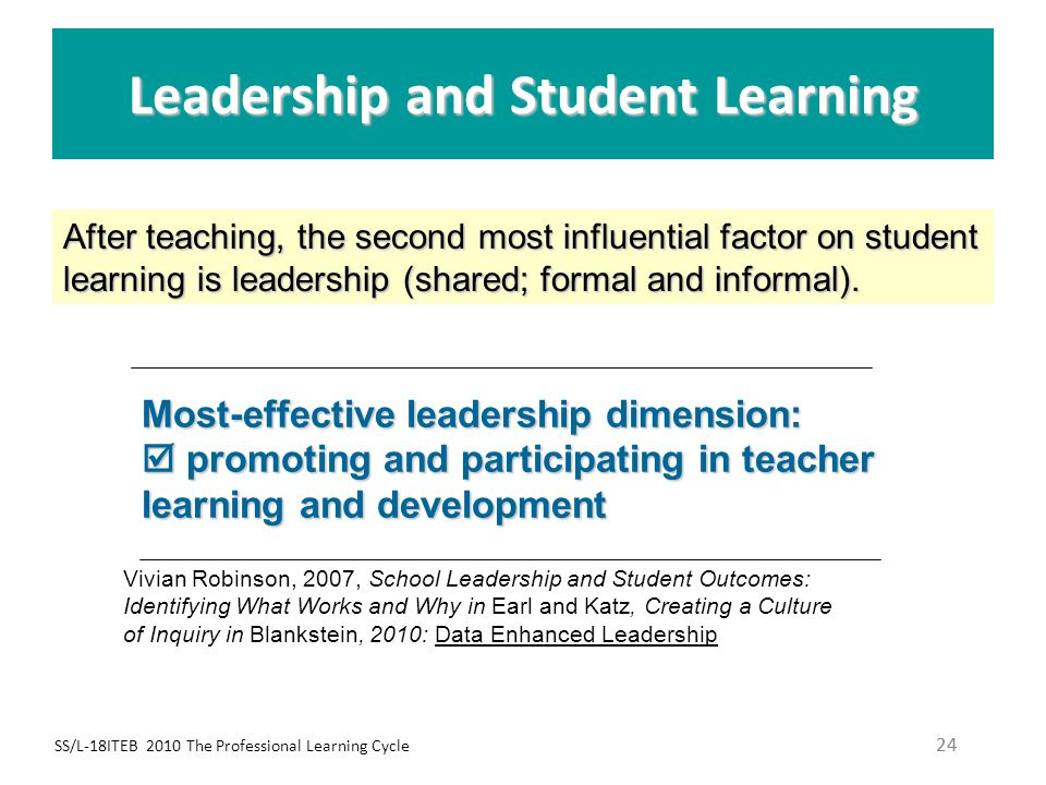 Leadership and Student Learning