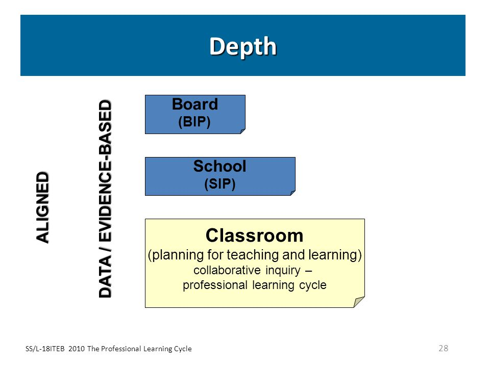 Depth Classroom Board DATA / EVIDENCE-BASED School ALIGNED (BIP) (SIP)