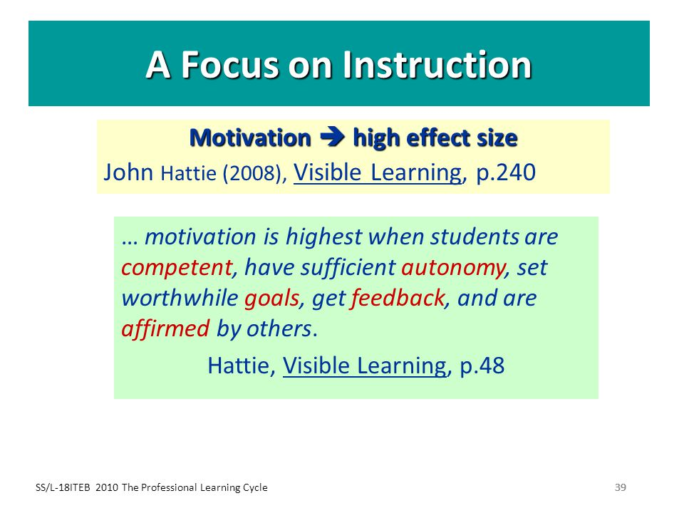 Motivation  high effect size