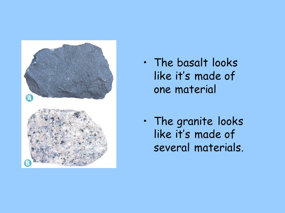 The basalt looks like it's made of one material