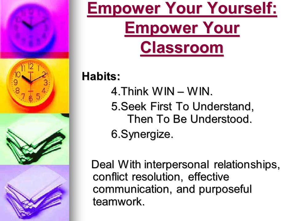 Empower Your Yourself: Empower Your Classroom