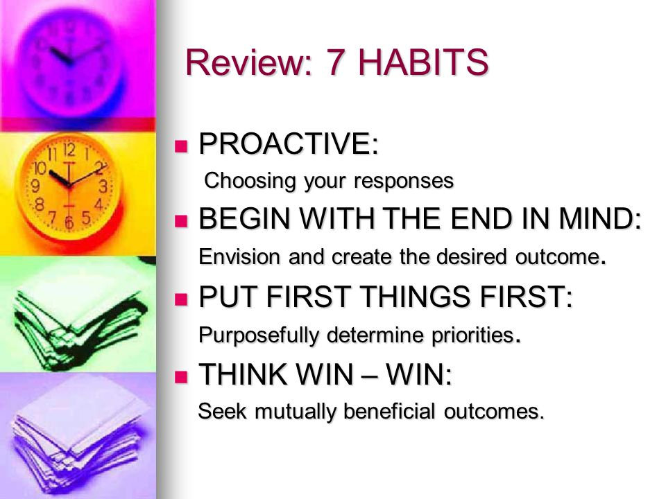 Review: 7 HABITS PROACTIVE: