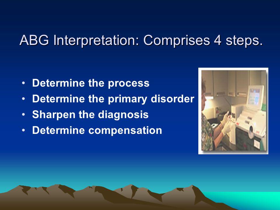 ABG Interpretation: Comprises 4 steps.