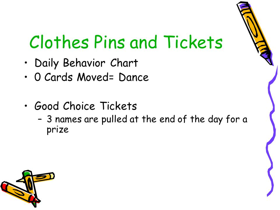 Clothes Pins and Tickets