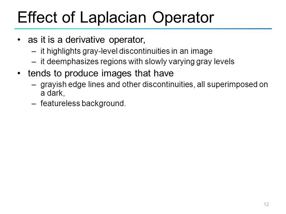 Effect of Laplacian Operator