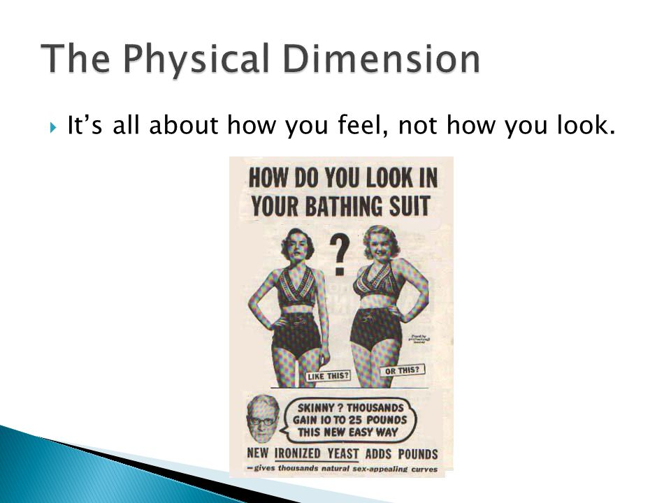 The Physical Dimension