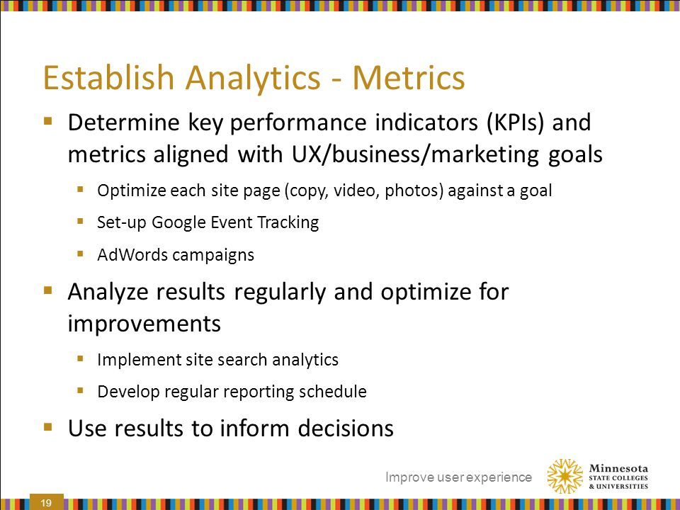 Establish Analytics - Metrics