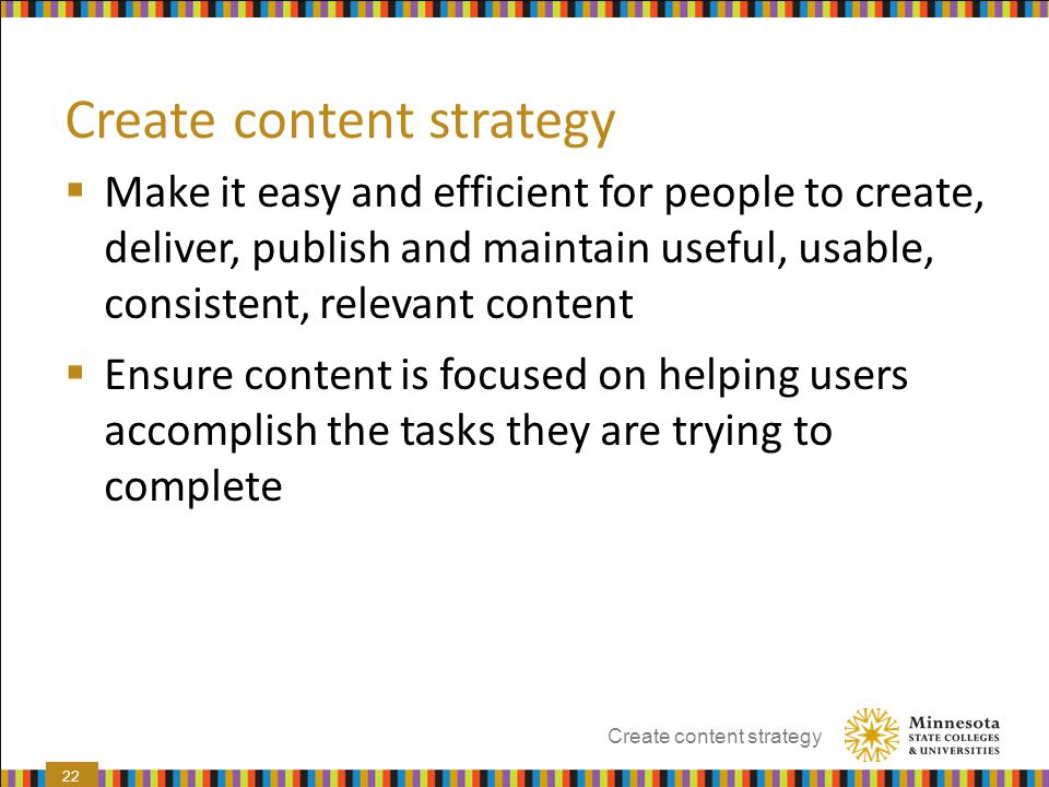 Create content strategy