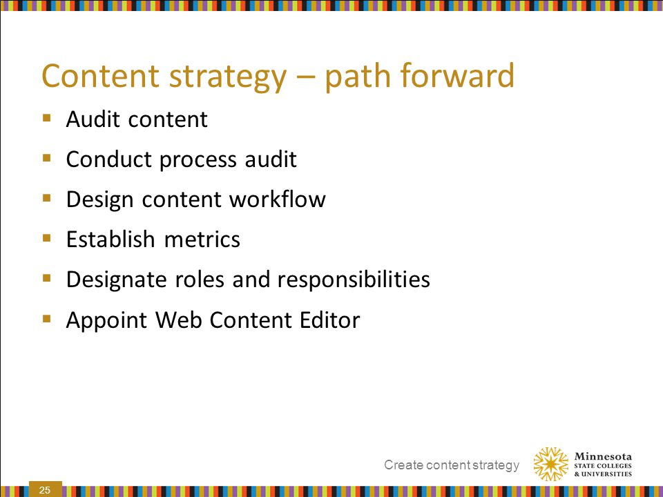 Content strategy – path forward