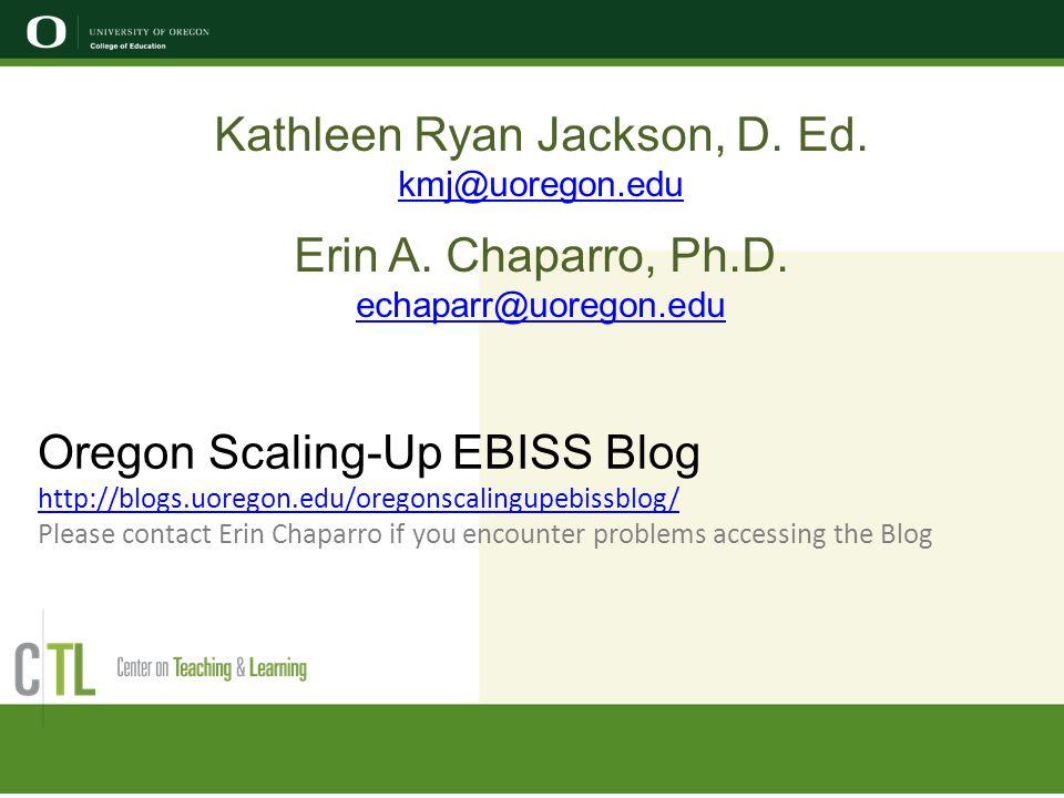 Kathleen Ryan Jackson, D. Ed.