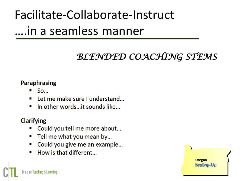 Facilitate-Collaborate-Instruct ….in a seamless manner
