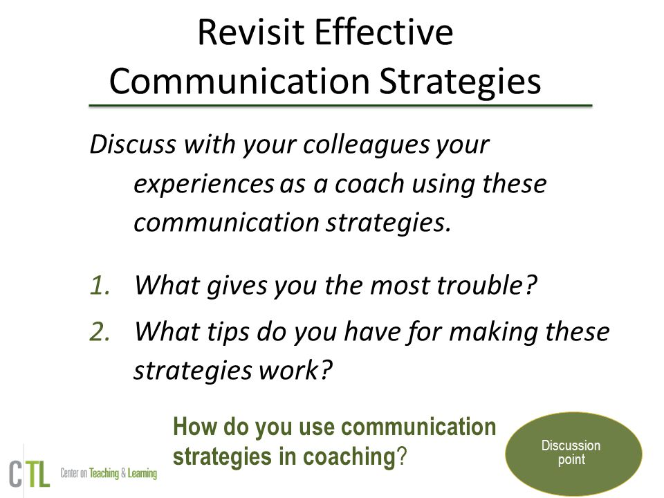 Revisit Effective Communication Strategies