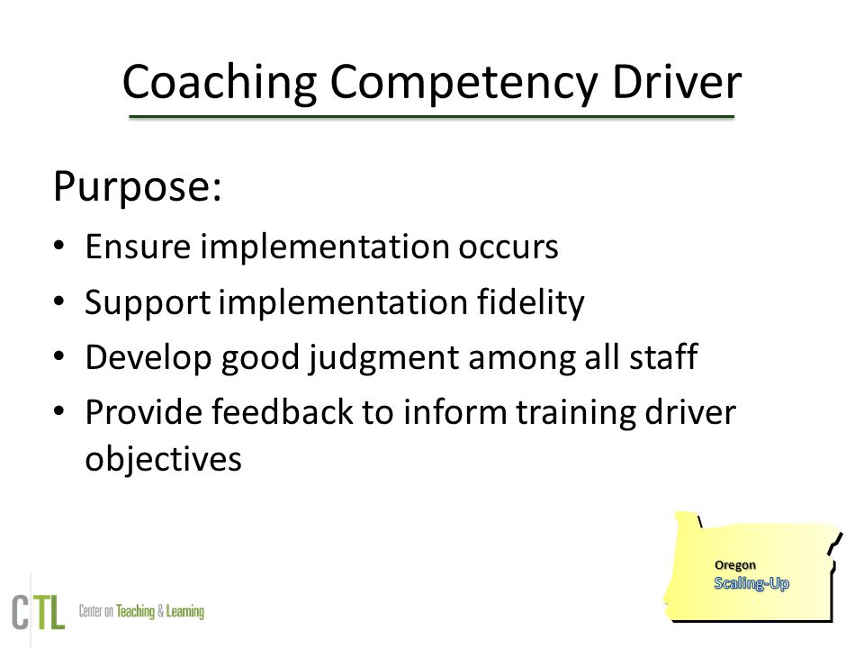 Coaching Competency Driver