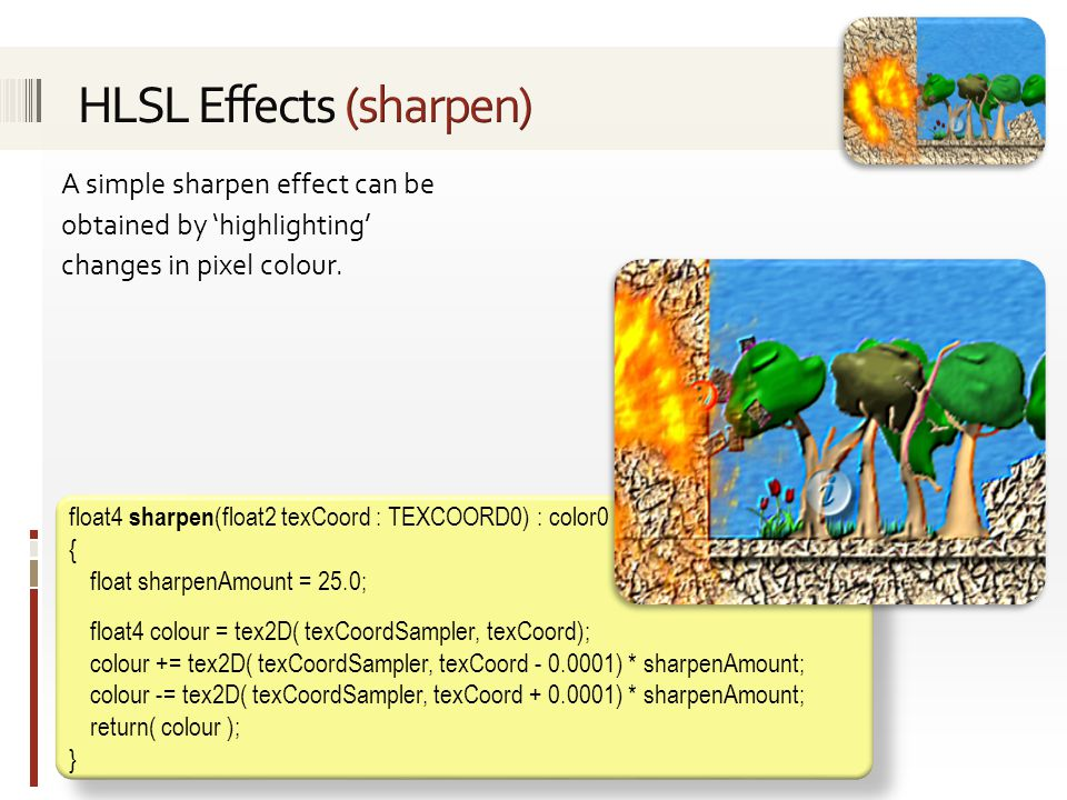 HLSL Effects (sharpen)