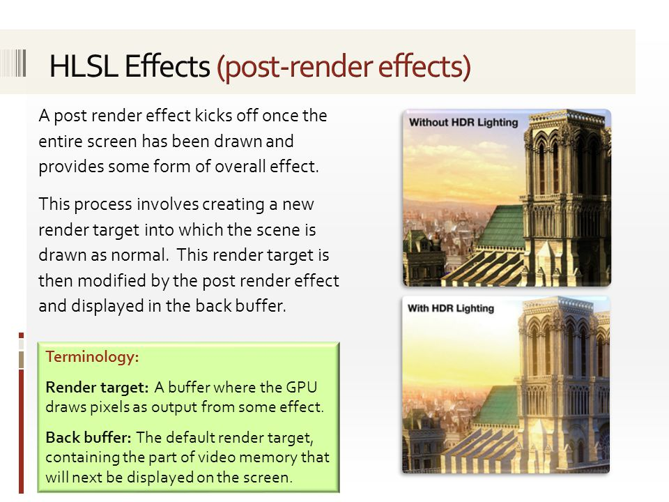 HLSL Effects (post-render effects)