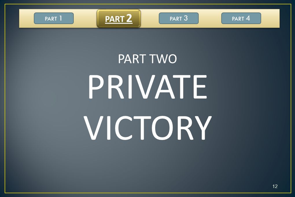 PART 2 PART 1 PART 3 PART 4 PART TWO PRIVATE VICTORY