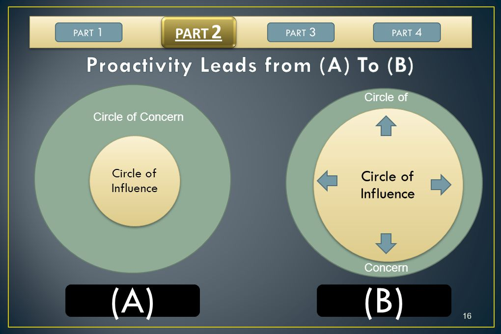 Proactivity Leads from (A) To (B)