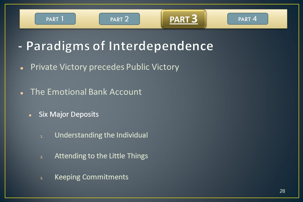 - Paradigms of Interdependence