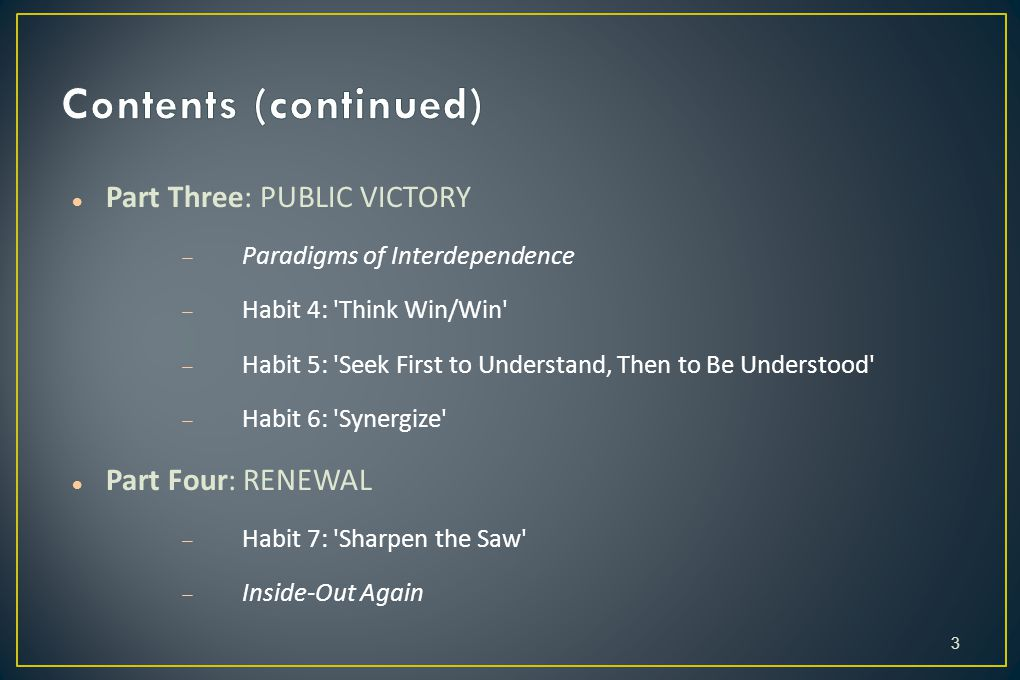 Contents (continued) Part Three: PUBLIC VICTORY Part Four: RENEWAL