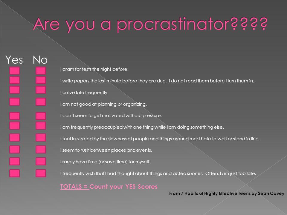 Are you a procrastinator