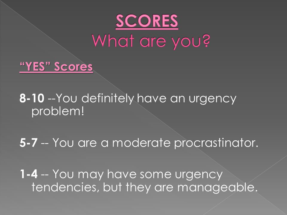 SCORES What are you