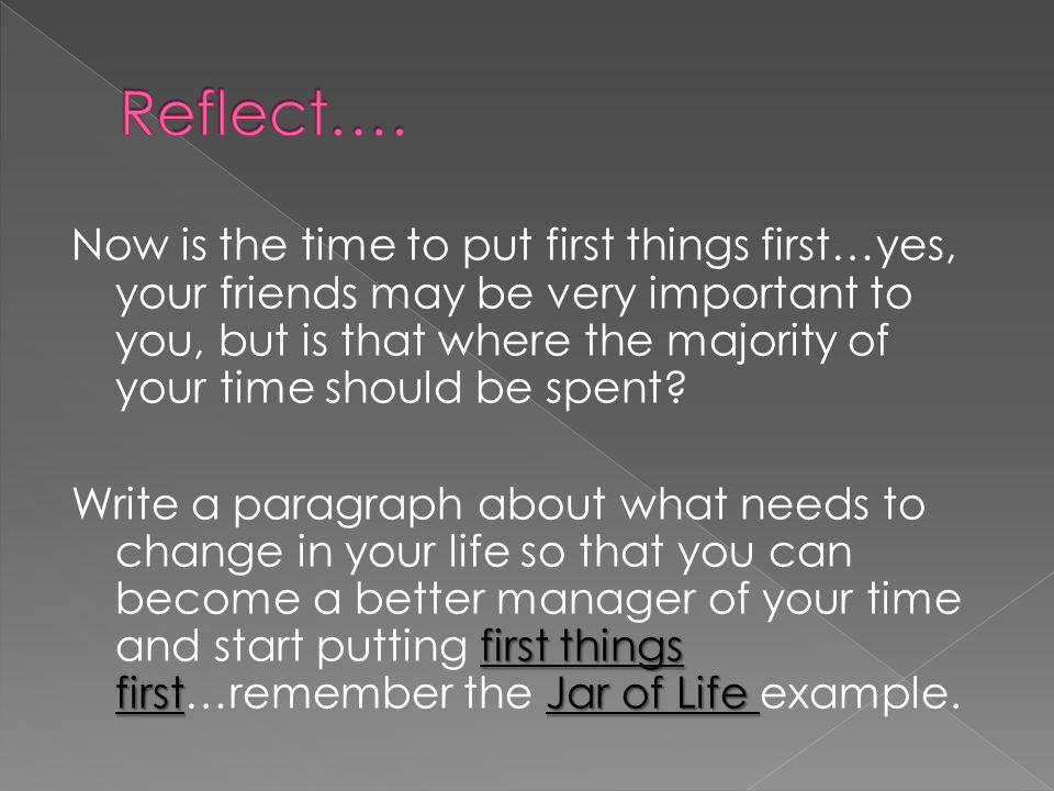 Reflect….