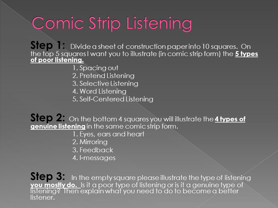 Comic Strip Listening