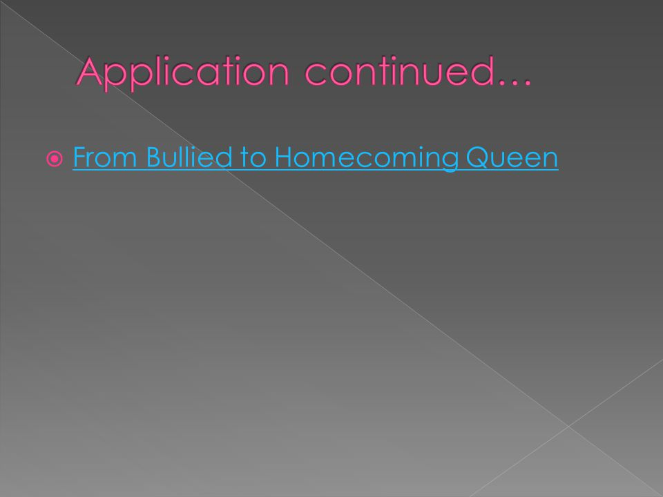 Application continued…