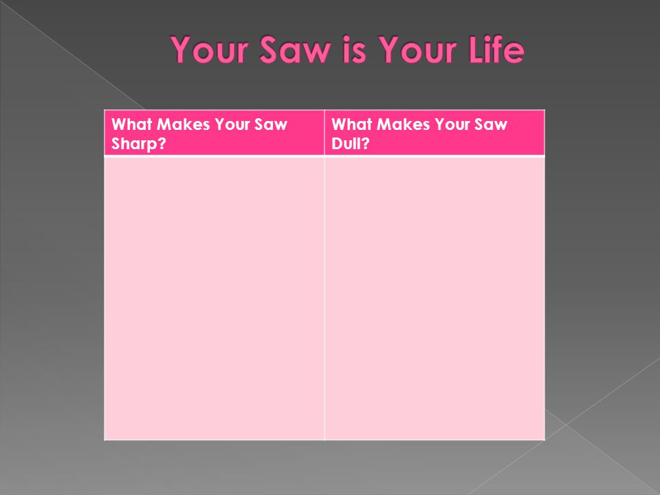 Your Saw is Your Life What Makes Your Saw Sharp