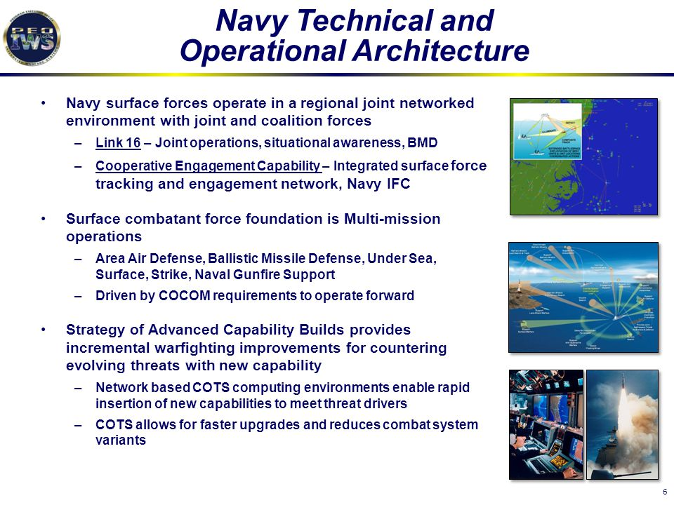 Navy Technical and Operational Architecture