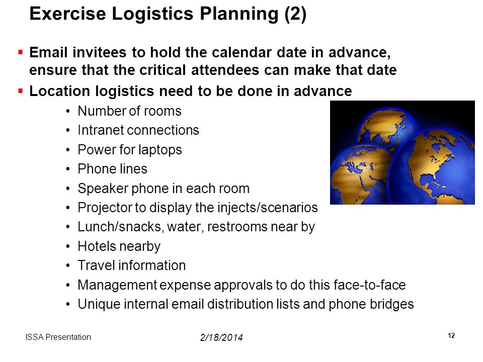 Exercise Logistics Planning (2)