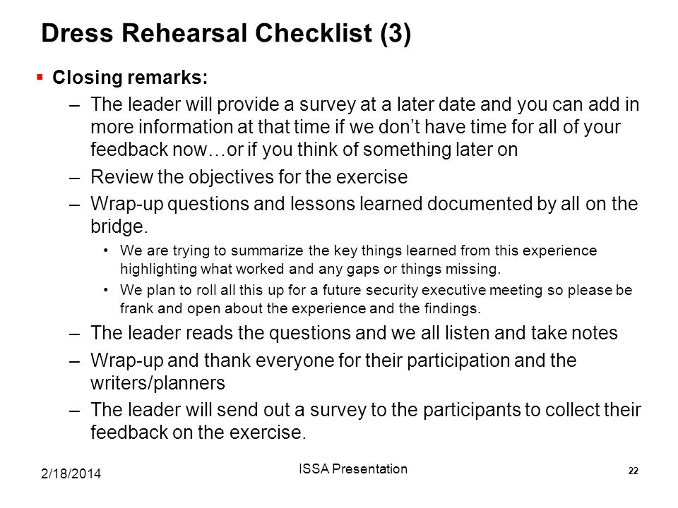 Dress Rehearsal Checklist (3)