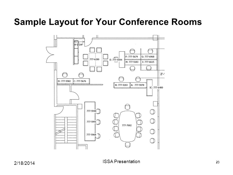 Sample Layout for Your Conference Rooms