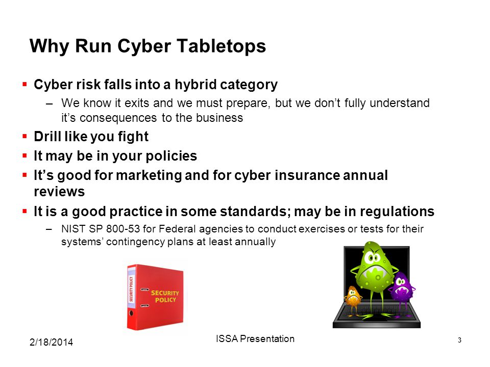 Why Run Cyber Tabletops