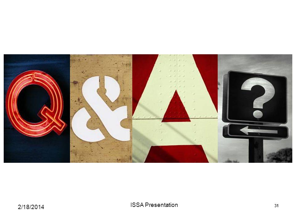 ISSA Presentation 2/18/2014