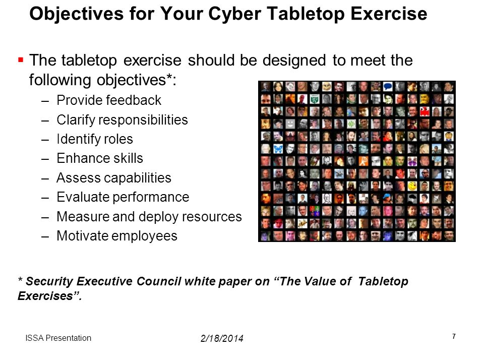 Objectives for Your Cyber Tabletop Exercise