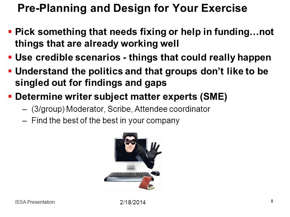 Pre-Planning and Design for Your Exercise
