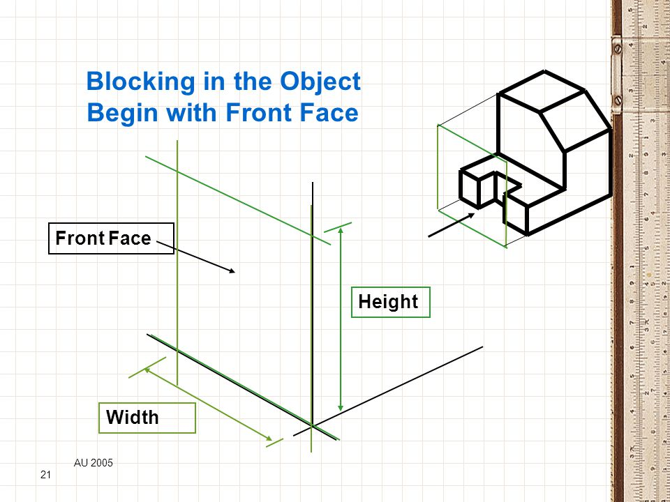 Blocking in the Object Begin with Front Face