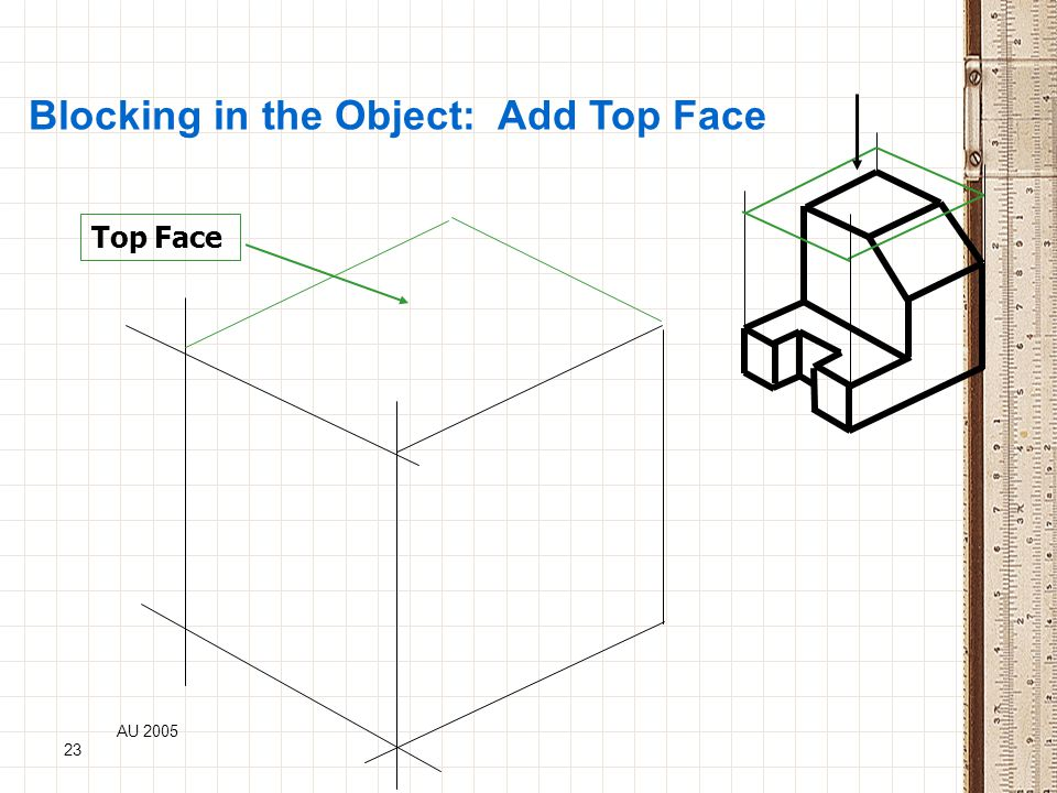 Blocking in the Object: Add Top Face