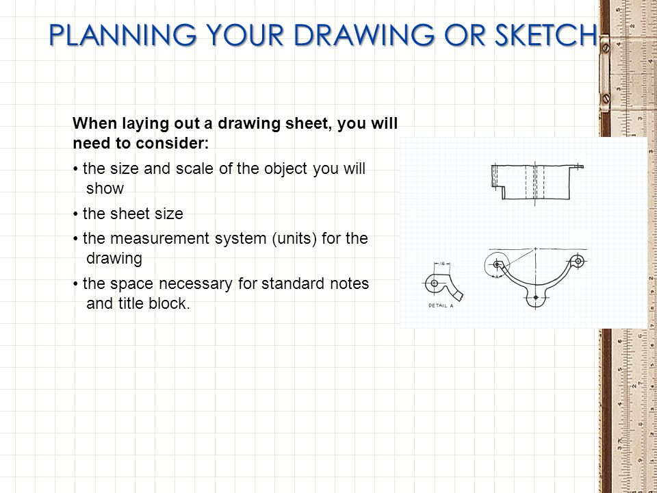 PLANNING YOUR DRAWING OR SKETCH