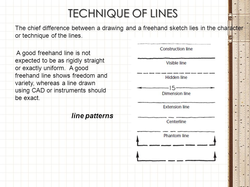 TECHNIQUE OF LINES line patterns