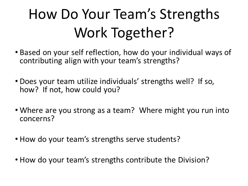 How Do Your Team's Strengths Work Together