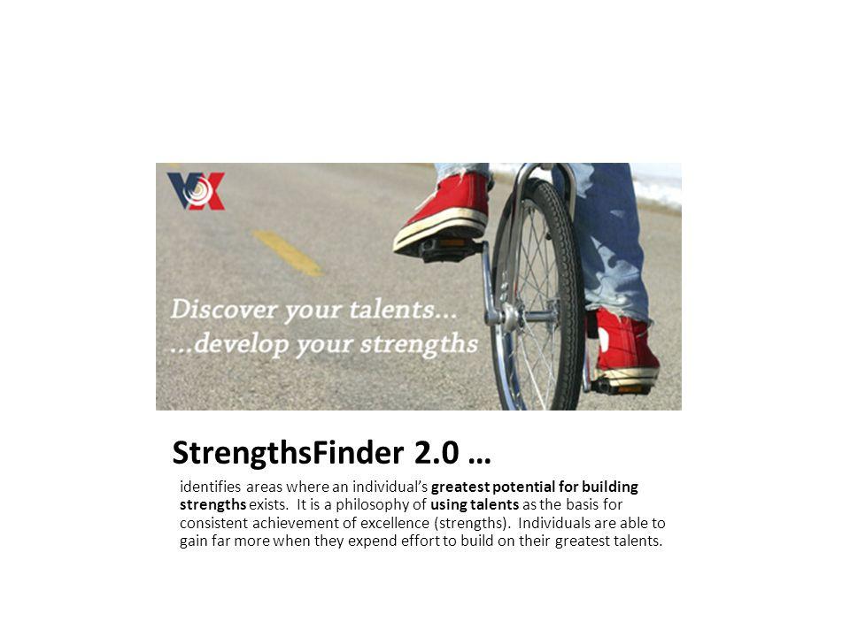 StrengthsFinder 2.0 …