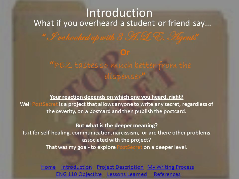 Introduction What if you overheard a student or friend say…
