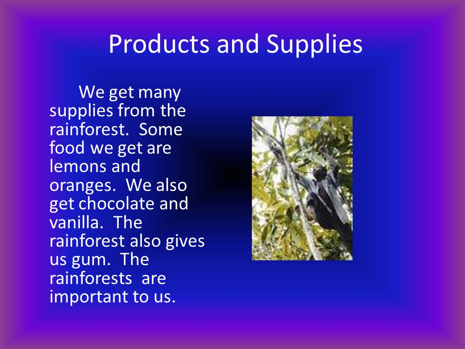 Products and Supplies